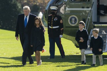 United States President Donald Trump and Family Returns to the White House