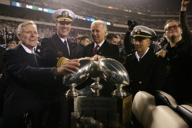 Commander in Chief trophy awarded at Army Navy game in Philadelphia