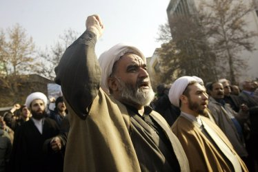 Iranians participate in an anti-Israel rally