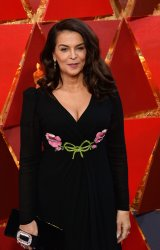 Annabella Sciorra arrives for the 90th annual Academy Awards in Hollywood