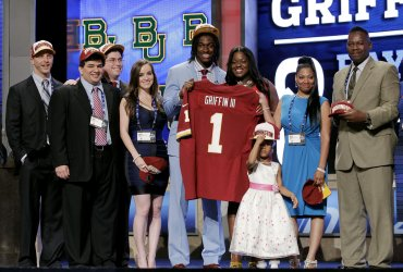 Washington Redskins select Robert Griffin III as #2 Overall Pick in the 2012 NFL Draft at Radio City Music Hall in New York