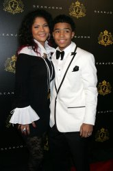 Justin Combs and mom Misa arrive for Justin Combs sweet sixteen birthday party in New York