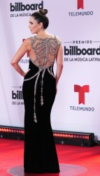 Jacqueline Bracamontes  walks the red carpet at the 2020 Latin Billboard Awards in Sunrise, Florida