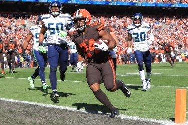 Browns Chubb touchdown against Seahawks