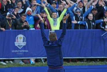 Ian Poulter at the Ryder Cup 2018