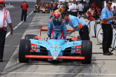 John Andretti Ready to Race at the Indianapolis Motor Speedway, in Indianapolis, Indiana.