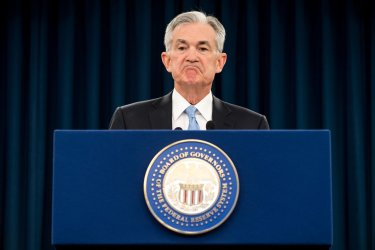 Federal Reserve Chairman Jerome Powell holds a press conference in Washington, D.C.