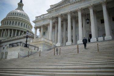 Senators Arrive at the US Capitol to Vote