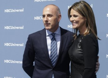 Matt Lauer and Savannah Guthrie  at NBCUNIVERSAL Upfront
