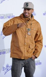 """Chris Brown attends the premiere of """"Justin Bieber: Never Say Never"""" in Los Angeles"""