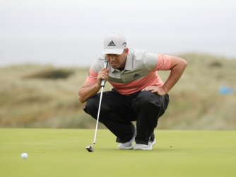 Sergio Garcia on the 2nd day of the Open Championship at Royal Portrush
