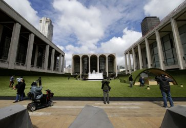 Lincoln Center's Plaza Transformed in Green Lawn in New York