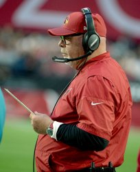 Cardinals' Arians watches the action on the field