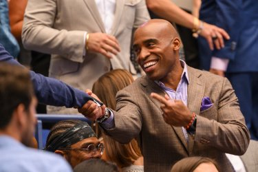 Tiki Barber attends the US Open