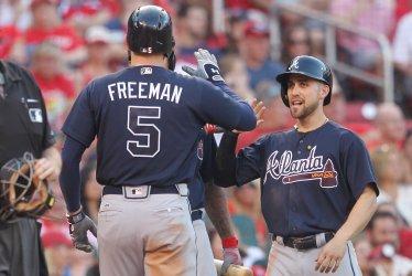 Atlanta Braves Freddie Freeman hits three run home run