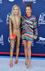 Maddie Marlow and Tae Dye attend the Academy of Country Music Awards in Las Vegas