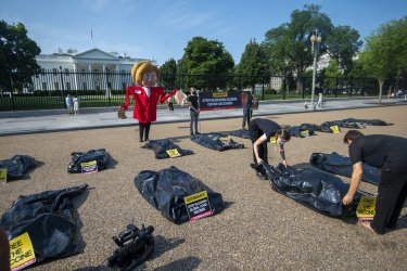 Public Citizen's Global Trade Watch Coronavirus Protest in Washington DC