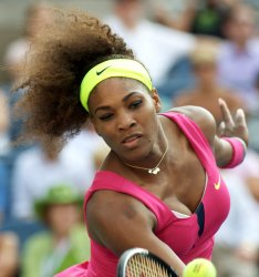 Serena Williams defeats Maria Jose Martinez Sanchez in second-round action at the U.S. Open in New York