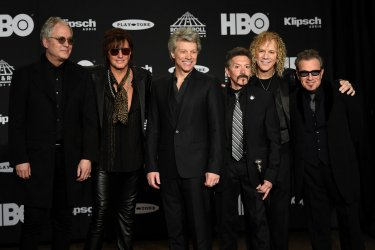 Bon Jovi at the 33rd annual Rock and Roll Hall of Fame Induction