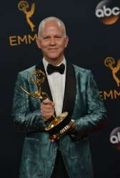 Ryan Murphy wins an award at the 68th Primetime Emmy Awards in Los Angeles