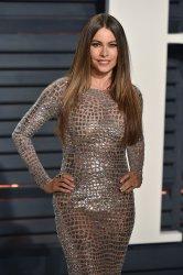 Sofia Vergara arrives for the Vanity Fair Oscar Party in Beverly Hills