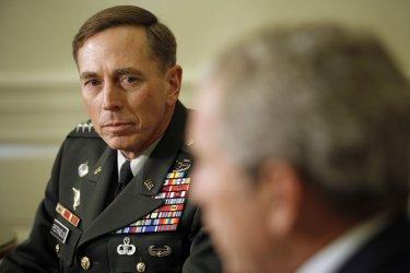 President Bush meets with Gen. David Petraeus in Washington