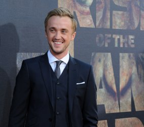 """Tom Felton attends the """"Rise of the Planet of the Apes"""" premiere in Los Angeles"""