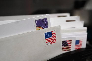 Letters are seen at a Post Office in Virginia