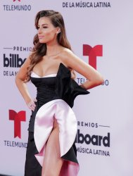 Nastassja Bolivar  walks the red carpet at the 2020 Latin Billboard Awards in Sunrise, Florida