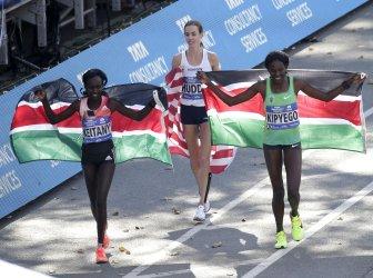 Mary Keitany of Kenya wins the New York City Marathon