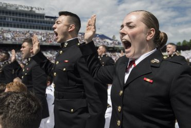 U.S. Naval Academy Graduation and Commissioning Ceremony in Annapolis, Maryland