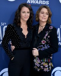 Catherine Shepherd and Brandi Carlile attend the Academy of Country Music Awards in Las Vegas