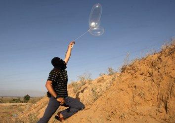 Palestinians Celebrate of Eid al-Fitr Holiday Israel-Gaza Border