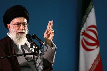 Iranian Supreme Leader Khamenei speaks in Tehran