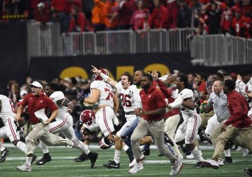 Alabama celebrates 26-23 win in the National Championship