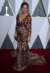 Chrissy Teigen arrives for the 88th Academy Awards in Hollywood