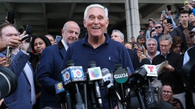 Roger Stone Speaks To The Media Outside of Federal Court in Florida