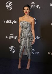 Kourtney Kardashian attends the InStyle and Warner Bros. Golden Globe after-party in Beverly Hills
