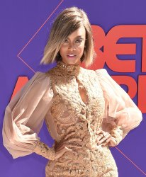 Tyra Banks attends the 18th annual BET Awards in Los Angeles
