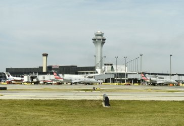 Planes Arrive and Depart O'Hare Airport in Chicago