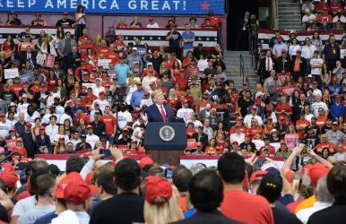President Trump leads a Keep America Great Rally in Sunrise , Florida