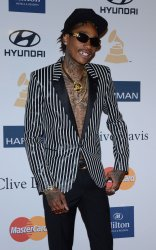 Wiz Khalifa attends the Clive Davis pre-Grammy party in Beverly Hills, California