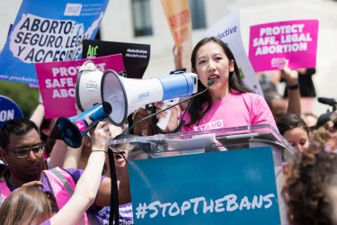 Dr. Leana Wen speaks at an Abortion-Rights Protest at the Supreme Court