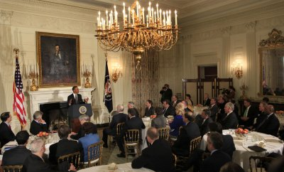 President Obama speaks to the National Governors Association in Washington