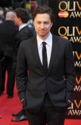"Zach Braff attends ""The Olivier Awards 2012"" in London"
