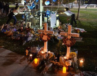 Residents gather for a community vigil for victims of Saugus High School shooting