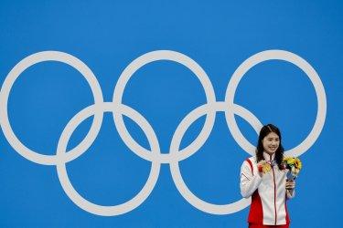 Yufei Zhang of China Gold Medal Winner at the Tokyo Olympics
