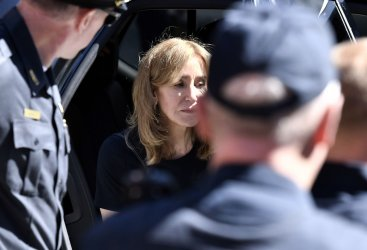 Actress Felicity Huffman sentenced at Boston Federal Courthouse