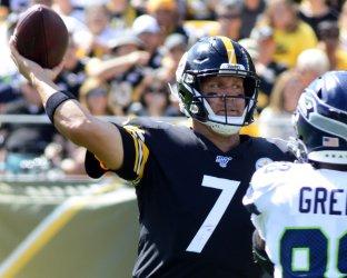 Steelers Ben Roethlisberger Against the Seattle Seahawks