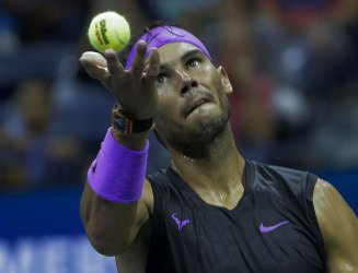 Rafael Nadal, of Spain, at the US Open